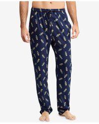 Polo Ralph Lauren - Allover Polo Bear Cotton Pajama Pants - Lyst