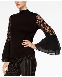 Joseph A - Lace Bell-sleeve Top - Lyst