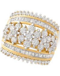 Wrapped in Love - Tm Diamond Cluster Statement Ring (2-1/2 Ct. T.w.) In 14k Gold, Created For Macy's - Lyst