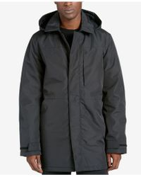 DKNY - Men's Full-length Raincoat With Removable Hood - Lyst