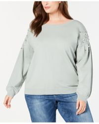 INC International Concepts - I.n.c. Plus Size Embellished Sweater, Created For Macy's - Lyst
