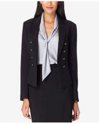 Tahari - Faux-double-breasted Blazer - Lyst