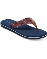 3a6c44e785e8 Lyst - Tommy Hilfiger Nazia Espadrille Flatform Sandals in Orange