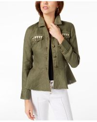 INC International Concepts - I.n.c. Linen Embroidered Peplum Jacket, Created For Macy's - Lyst
