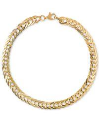 Macy's - Foldover Link Chain Bracelet In 14k Gold - Lyst