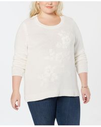 Style & Co. - Plus Size Tonal Flower-embroidered Jumper, Created For Macy's - Lyst