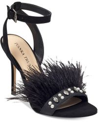Ivanka Trump - Kasie Feather Dress Sandals - Lyst