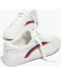 Madewell - Women's Sidewalk Low-top Trainers In Rainbow Embroidered Canvas - Lyst