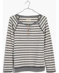 Madewell | Striped Henley Pyjama Top | Lyst