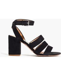 Madewell - The Maria Sandal In Suede - Lyst