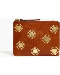 Madewell The Leather Pouch Wallet: Sun Stamped Edition