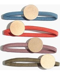 Madewell - Four-pack Disc Hair Ties - Lyst