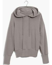 Madewell - Pre-order Rivet & Thread Crop Hoodie Sweatshirt - Lyst