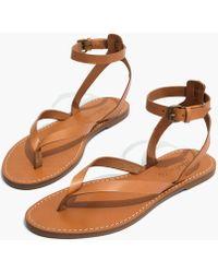 Madewell - The Boardwalk Thong Sandal - Lyst