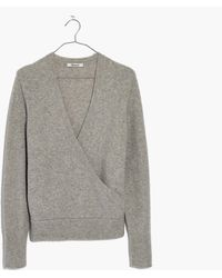 Madewell - Wrap-front Pullover Jumper - Lyst