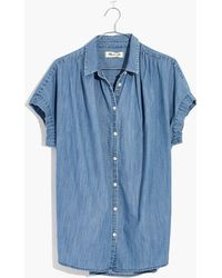 Madewell | Central Shirt In Roberta Indigo | Lyst