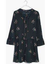 Madewell   Silk Tie-neck Dress In Wild Botanic   Lyst