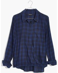 Madewell - Wrap-front Shirt In Arion Plaid - Lyst