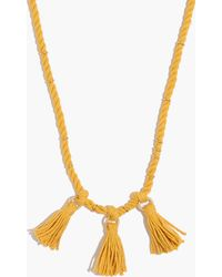 Madewell - Rope & Tassel Necklace - Lyst
