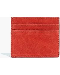 Madewell - The Leather Card Case In Nubuck - Lyst
