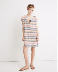 72b2400f23c Madewell - Cover-up Tunic Dress In Towel Stripe - Lyst