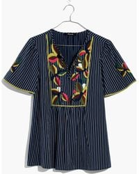 Madewell - Embroidered Fable Top - Lyst