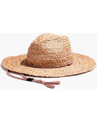 Madewell - X Biltmore® Braided Fedora Hat - Lyst