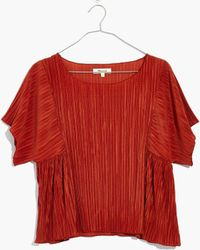 Madewell - Pre-order Micropleat Top - Lyst