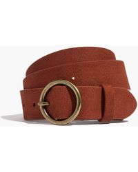 Madewell - Suede Circle Buckle Belt - Lyst