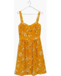 Madewell - Silk Fleur Bow-back Dress In Butterfly Garden - Lyst