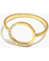 Madewell - Luster Circle Ring - Lyst