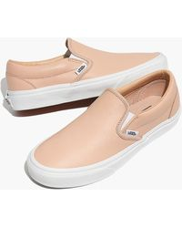 b0d82330df Madewell - Vans Unisex Classic Slip-on Sneakers In Frappe Leather - Lyst