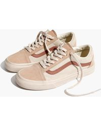 Madewell - X Vans® Unisex Old Skool Lace-up Trainers In Camel Colorblock - Lyst