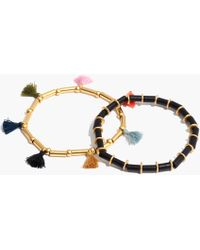 Madewell - Two-pack Bead And Tassel Bracelets - Lyst