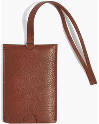 Madewell - The Leather Luggage Tag - Lyst