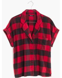 Madewell - Flannel Bedtime Pajama Top In Buffalo Check Flannel Bedtime Pajama Pants In Buffalo Check - Lyst