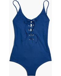Madewell - Tavik® Monahan Lace-up One-piece Swimsuit - Lyst