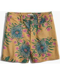 Madewell - Emmett Shorts In Painted Blooms - Lyst