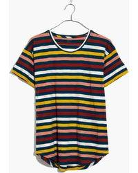 Madewell - Whisper Cotton Crewneck Tee In Lennie Stripe - Lyst