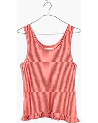 Madewell - Ruffle-hem Pyjama Tank In Stripe - Lyst