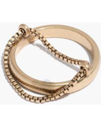 Madewell - Chain Cage Ring - Lyst