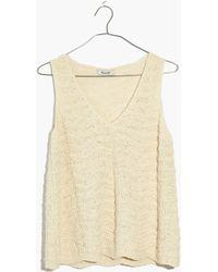 Madewell - Crocheted Sweater Tank - Lyst