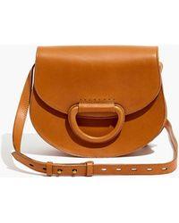 9c0dc56825df Lyst - Michael Kors Delfina Large Leather Saddlebag in Green
