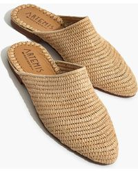 Madewell - Artemis Design Co. Raffia Babouche Mules - Lyst