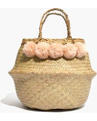 Madewell - Xinh & Co. Large Pom-pom Basket Tote - Lyst