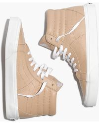 Madewell - Vans® Unisex Sk8-hi Reissue High-top Trainers In Sesame Leather - Lyst