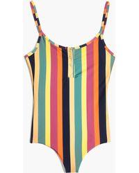 Madewell - X Tavik Lila One-piece Swimsuit In Rainbow Stripe - Lyst