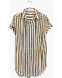 Madewell - Central Tunic Shirt In Williams Stripe - Lyst