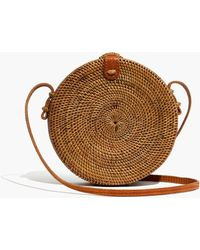 Madewell - Folk Fortune Bali Rattan Roundie Bag - Lyst