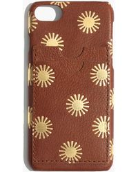 Madewell - Leather Carryall Case For Iphone® 6/7/8: Sun Embossed Edition - Lyst